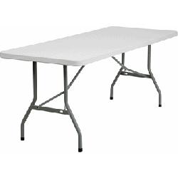 6ft White Folding Table