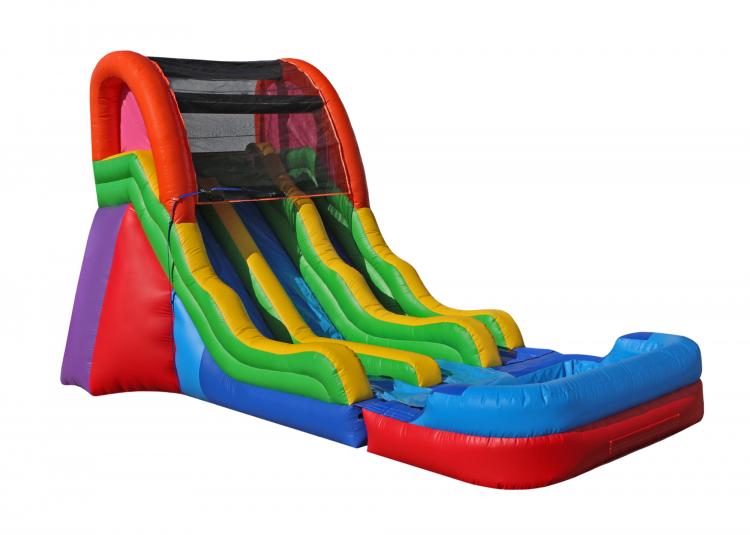 17 Foot Fun Dual Lane Water Slide